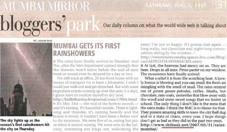 My post in the Mumbai Mirror