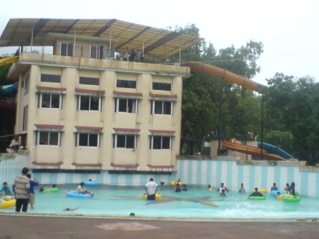 The wave pool at the resort