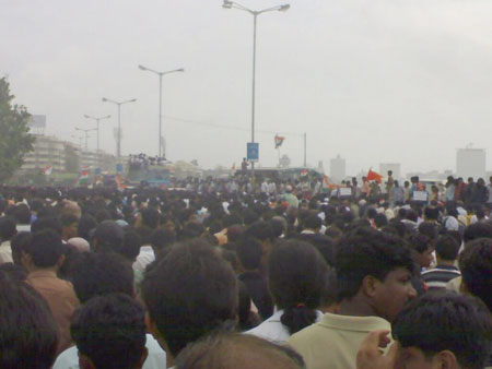 The flood of people at Marine Drive